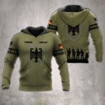 Customize German Army Veteran All Over Print Hoodies