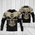 Customize US Army Skull Version All Over Print Hoodies