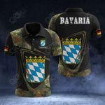 Customize Bavaria Coat Of Arms & Flag Camo All Over Print Polo Shirt
