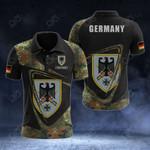 Customize German Army Symbol & Flag Camo All Over Print Polo Shirt