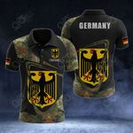 Customize Germany Coat Of Arms & Flag Camo All Over Print Polo Shirt