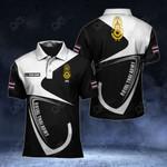 Customize Royal Thai Army Symbol & Flag All Over Print Polo Shirt