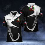 Customize Dominican Republic Coat Of Arms & Flag All Over Print Polo Shirt