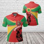 Oromo Round Coat Of Arms All Over Print Polo Shirt