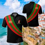 Portugal Special Flag Black Version All Over Print Polo Shirt