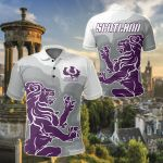 Scotland Rugby - Purple Lion Thistle All Over Print Polo Shirt