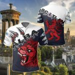 Scottish Red Lion & Claws Alba All Over Print Polo Shirt