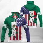 America My Home - Mexico My Blood Skull Mix All Over Print Neck Gaiter Hoodie
