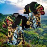 Ethiopia Emperor Haile Selassie All Over Print Polo Shirt