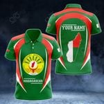 Customize Madagascar Map & Coat Of Arms All Over Print Polo Shirt