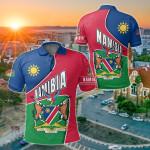 Namibia Heart And Soul All Over Print Polo Shirt