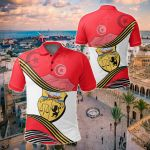 Tunisia Analog Style With Coat Of Arms All Over Print Polo Shirt
