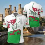 Wales Heart And Soul All Over Print Polo Shirt