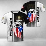 Customize Puerto Rico Coat Of Arms & Special Skull All Over Print T-shirt