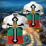 Bulgaria - Bulgarian Orthodox Cross Lion All Over Print Polo Shirt
