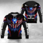 Customize Puerto Rico - America Skull & Wing Special All Over Print Hoodies