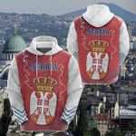 Serbia Mix All Over Print Hoodies