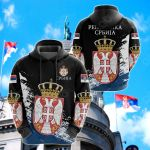 Serbia Special Black Version All Over Print Shirts