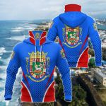 Puerto Rico Coat Of Arms Style All Over Print Neck Gaiter Hoodie