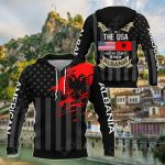 I May Live In The USA But My Story Began In Albania - Flag All Over Print Shirts