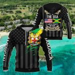I May Live In The USA But My Story Began In Jamaica - Flag All Over Print Shirts