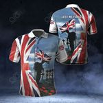 British Veteran Soldier Poppy Flag Lest We Forget All Over Print Polo Shirt
