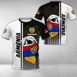 Customize Armenia Coat Of Arms & Special Skull All Over Print T-shirt