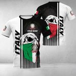 Customize Italy Coat Of Arms & Special Skull All Over Print T-shirt