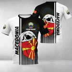 Customize Macedonia Coat Of Arms & Special Skull All Over Print T-shirt