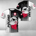Customize Poland Coat Of Arms & Special Skull All Over Print T-shirt