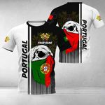 Customize Portugal Coat Of Arms & Special Skull All Over Print T-shirt