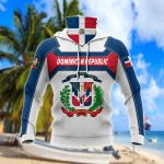 Dominican Republic New Style All Over Print Neck Gaiter Hoodie