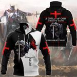 Knights Templar All Over Print Neck Gaiter Hoodie