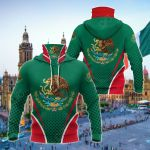 Mexico Coat Of Arms Style All Over Print Neck Gaiter Hoodie