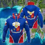 Philippines Coat Of Arms Style All Over Print Neck Gaiter Hoodie