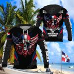 Customize Dominican Republic - America Skull & Wing Special All Over Print Hoodies