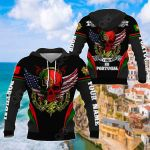 Customize Portugal - America Skull & Wing Special All Over Print Hoodies