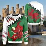 Welsh Dragon Special All Over Print Shirts