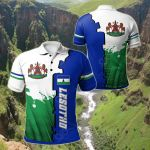 Lesotho Independence Day All Over Print Polo Shirt