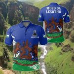 Lesotho Special All Over Print Polo Shirt