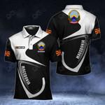 Customize Macedonia Coat Of Arms & Flag All Over Print Polo Shirt