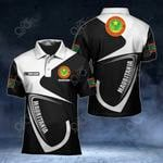 Customize Mauritania Coat Of Arms & Flag All Over Print Polo Shirt