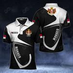 Customize Monaco Coat Of Arms & Flag All Over Print Polo Shirt