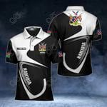 Customize Namibia Coat Of Arms & Flag All Over Print Polo Shirt