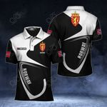 Customize Norway Coat Of Arms & Flag All Over Print Polo Shirt