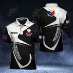 Customize Philippines Coat Of Arms & Flag All Over Print Polo Shirt