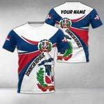 Customize Dominican Republic Round Coat Of Arms All Over Print T-shirt
