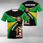 Customize Jamaica Round Coat Of Arms All Over Print T-shirt