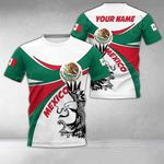 Customize Mexico Round Coat Of Arms All Over Print T-shirt