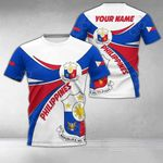 Customize Philippines Round Coat Of Arms All Over Print T-shirt